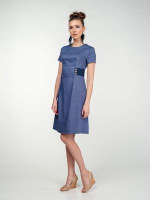 Сукня синя в малюнок | 5473421