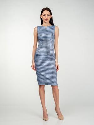 Сукня сіро-блакитна в візерунок | 5473424