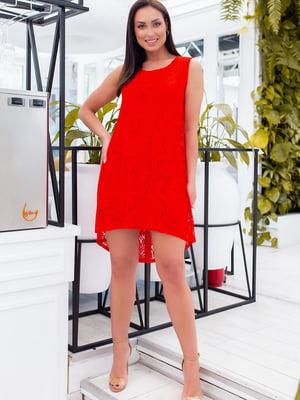 Сукня червона з візерунком | 5464406