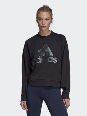 Джемпер черный с логотипом | 5474911