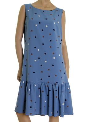 Платье голубого цвета в горох | 5474930
