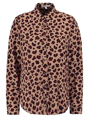 Блуза коричневая в принт | 5474950
