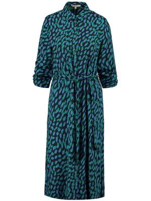 Сукня синя в принт | 5474972