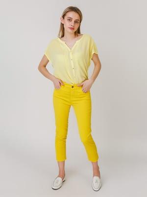 Брюки лимонного цвета | 5464576