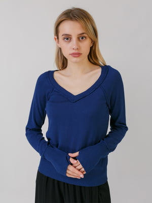 Пуловер темно-синій | 5464556