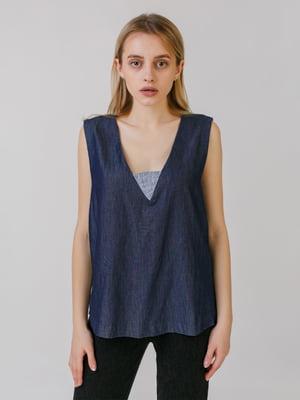 Блуза джинсового кольору | 5464546