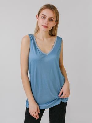 Блуза джинсового кольору | 5464608