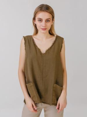 Блуза кольору хакі | 5464571