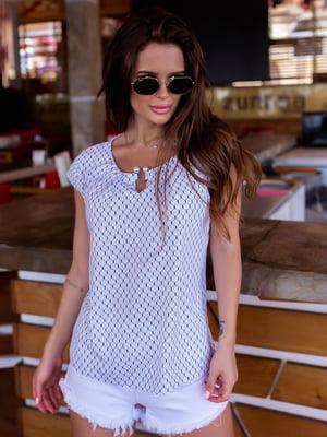 Блуза біла в візерунок | 5475163