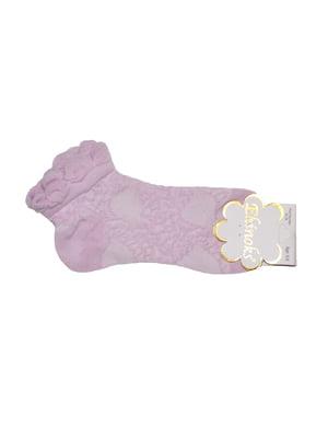 Носки фиолетовые в узор | 5475230