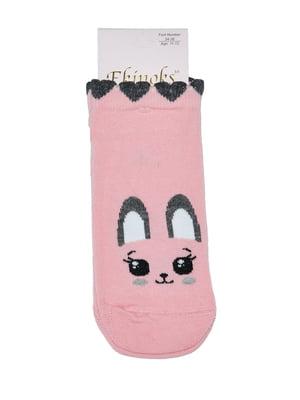 Шкарпетки рожеві в принт | 5475234