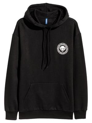 Худи черная с логотипом   5475338