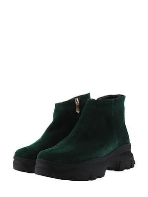 Ботинки темно-зеленые   5462246