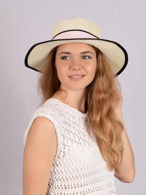 Шляпа бежевая   5475789