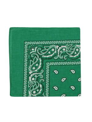Бандана зелена в принт | 5475806