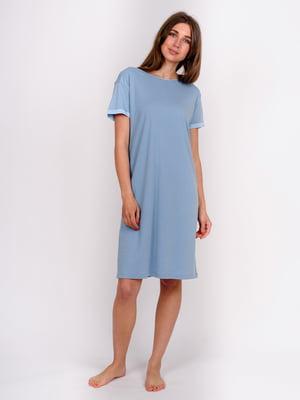 Сорочка нічна блакитна | 5475681