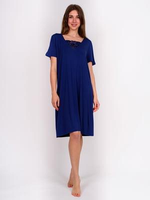 Сорочка нічна синя | 5475685