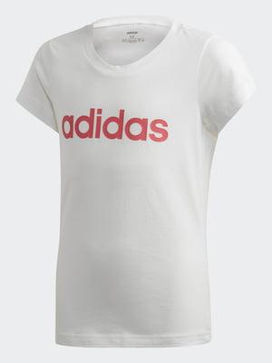 Футболка белая с логотипом | 5475845