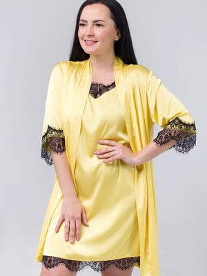 Комплект: нічна сорочка і халат | 5476492
