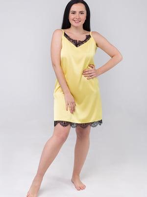 Сорочка нічна жовта | 5476494