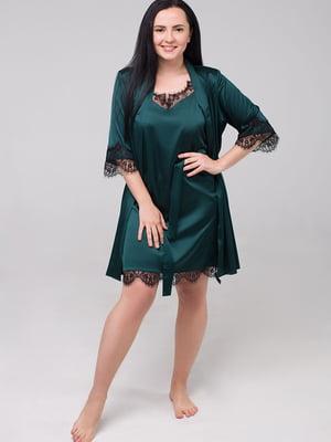 Комплект: нічна сорочка і халат | 5476501