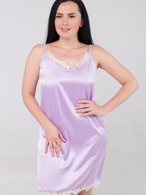 Сорочка нічна бузкового кольору | 5476510