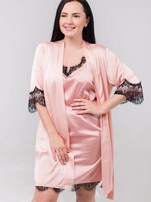 Комплект: нічна сорочка і халат | 5476518