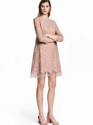 Платье цвета пудры | 5477014