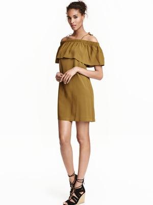 Платье оливкового цвета | 5477231