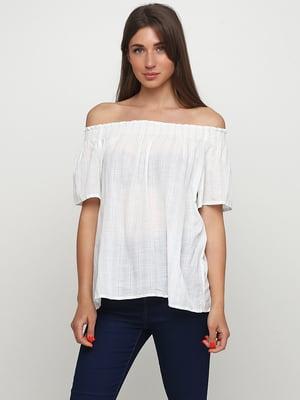 Блуза белая в полоску | 5477304