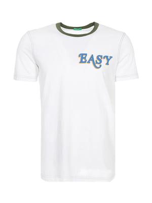 Футболка белая с принтом | 5477318