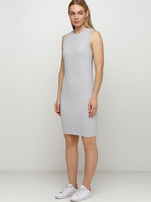 Платье бело-серое | 5477349
