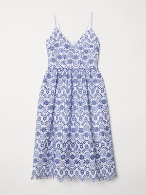 Платье белое с вышивкой | 5477392