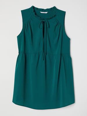 Блуза для беременных темно-зеленая | 5477542