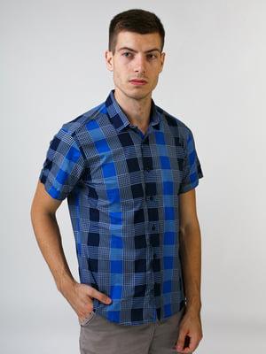 Рубашка синяя в клетку   5474704