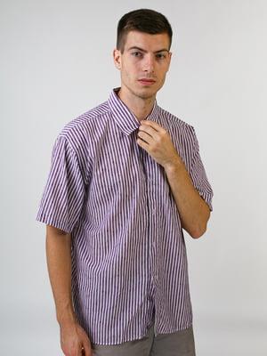 Сорочка бузкового кольору в смужку | 5474680