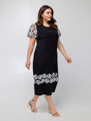Платье черное с узором - Luzana - 5478127