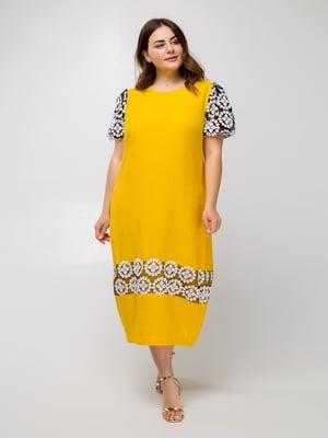 Платье желтое с узором - Luzana - 5478128