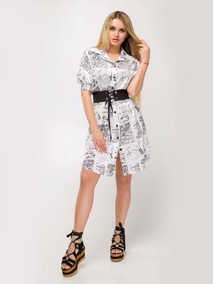 Платье белое с принтом - Luzana - 5478129