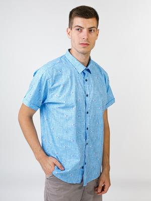 Рубашка голубая | 5474630