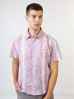 Сорочка бузкового кольору в смужку | 5474698