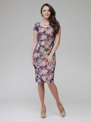 Платье в цветочный принт | 5473385