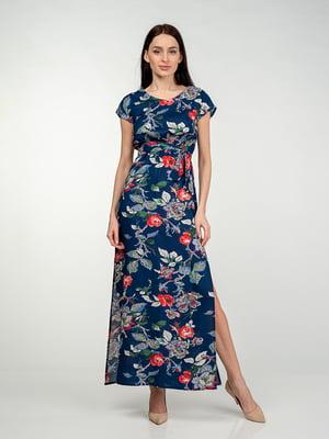 Сукня синя в квітковий принт   5473407