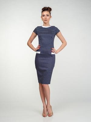 Платье сине-белое в клетку | 5473418