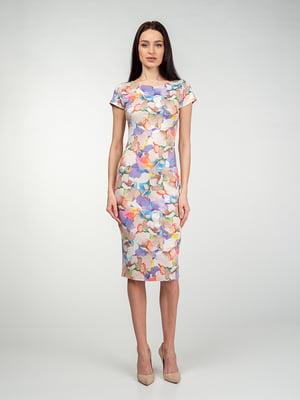 Платье в разноцветный принт | 5473348