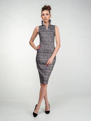 Платье серое с узором | 5473375