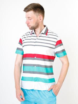 Рубашка белая в полоску   5474667