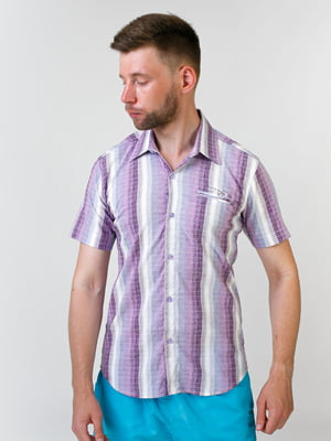 Сорочка бузкового кольору в смужку | 5474686