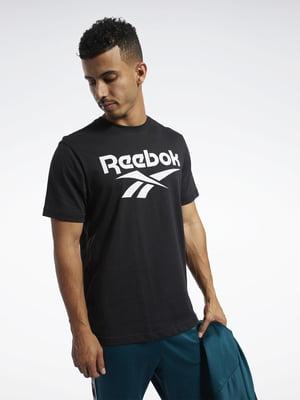Футболка черная с логотипом | 5463813