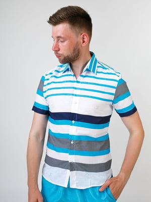 Рубашка белая в полоску   5474676